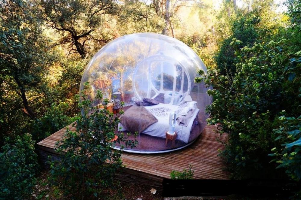 Une chambre bulle en Corse, la tête dans les étoiles, inédit! tarif selon saison