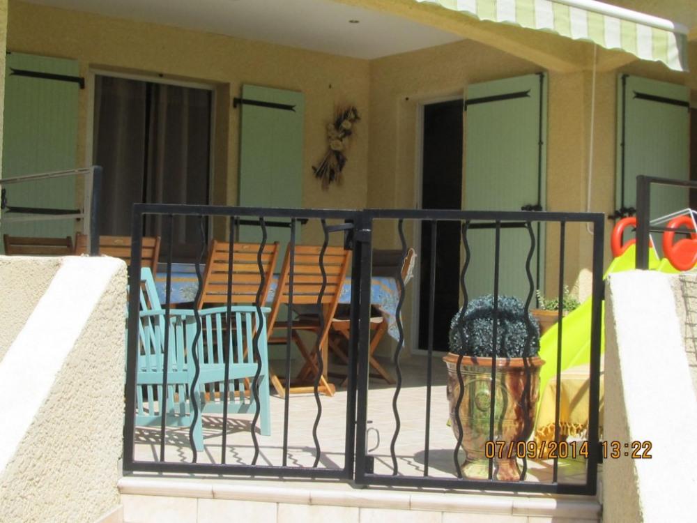 Terrasse clôturée