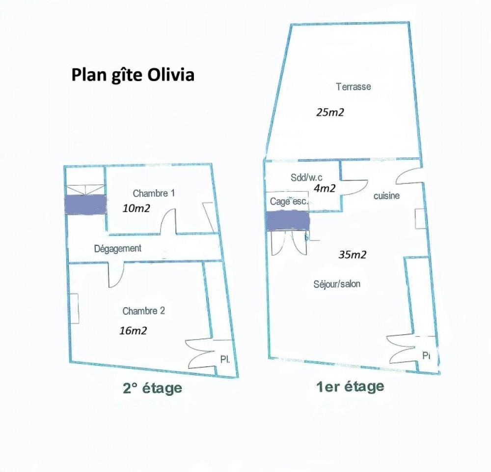 plan gîte Olivia