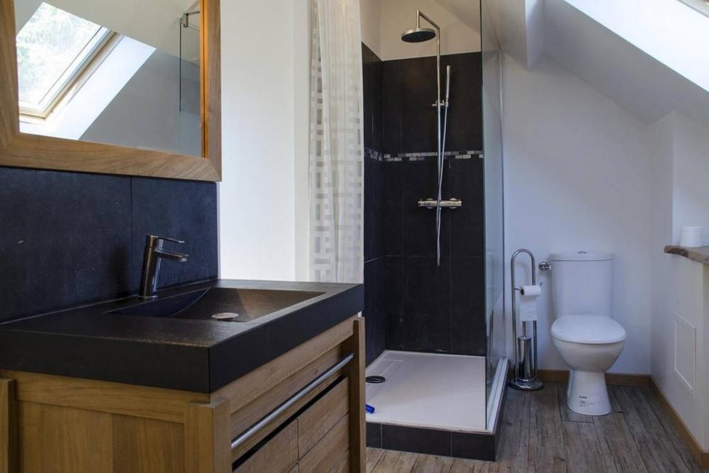 Salle de bain de la chambre Franquette