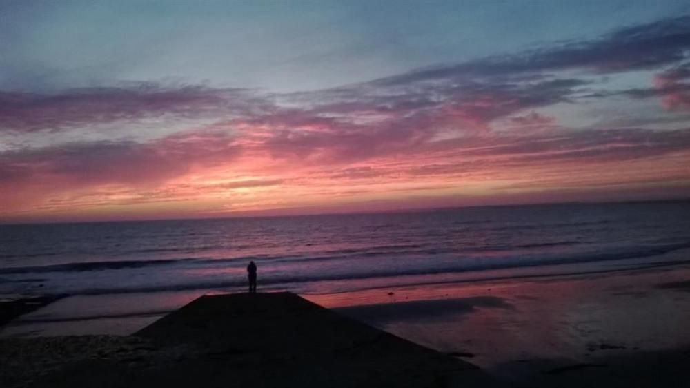 coucher de soleil  la pointe