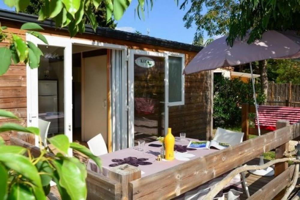 Camping Lou Pantaï - Lodge bois classique
