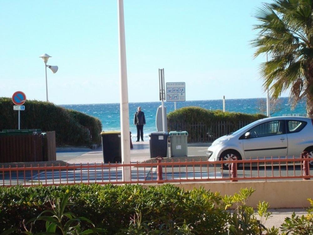 vue face à la plage