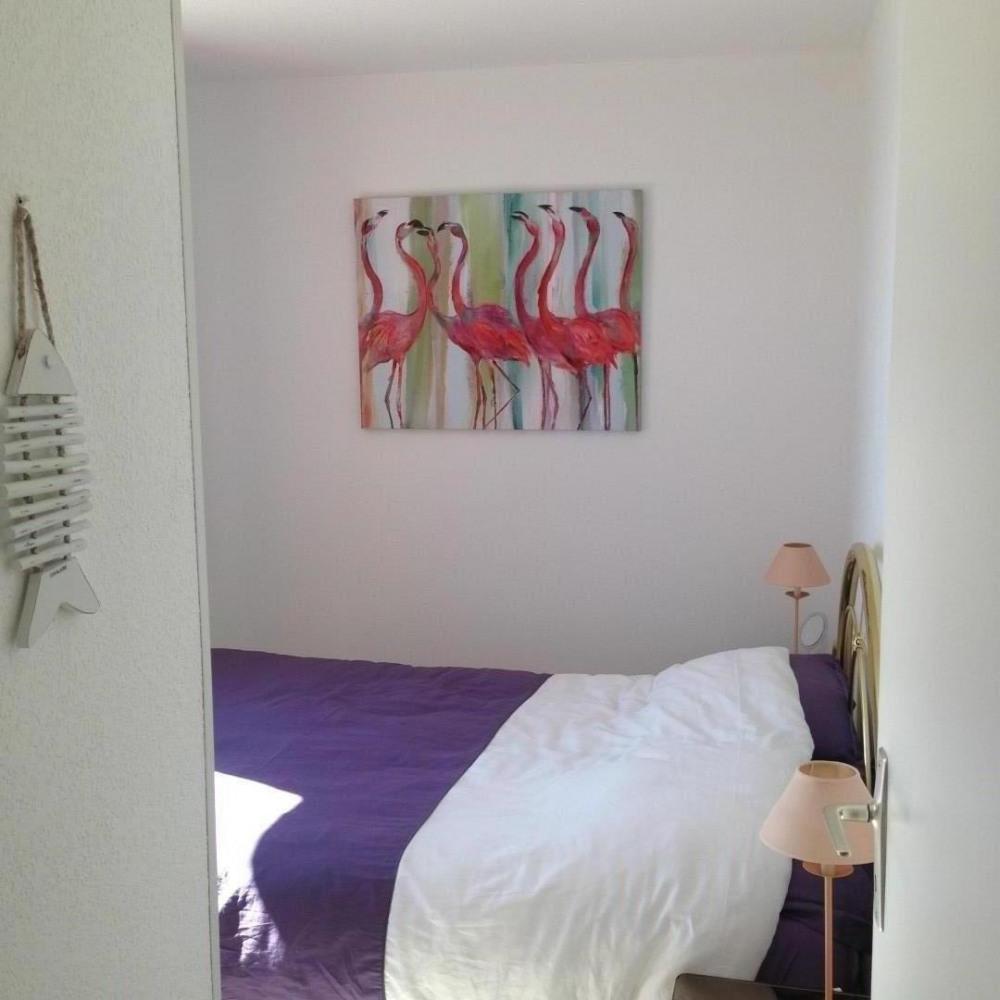 chambre parents (lit double) baie vitrée vue mer et accès terrasse