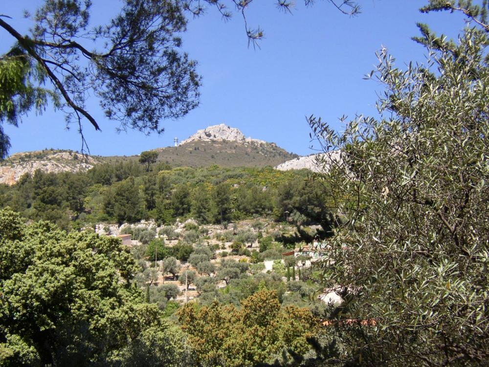 Vue du Mont caume depuis la chambre du haut