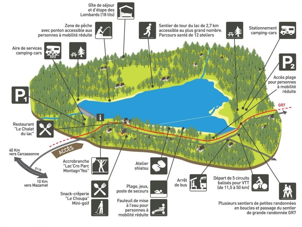 activités base de loisirs lac des montagnès
