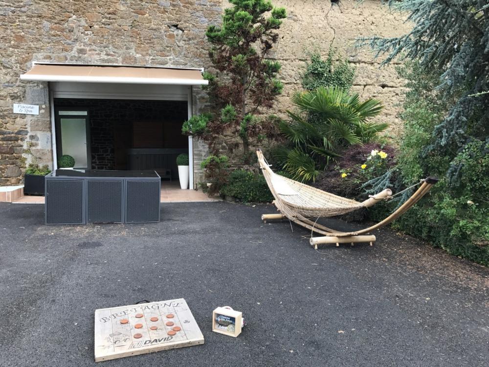 palet breton, entrée espace piscine