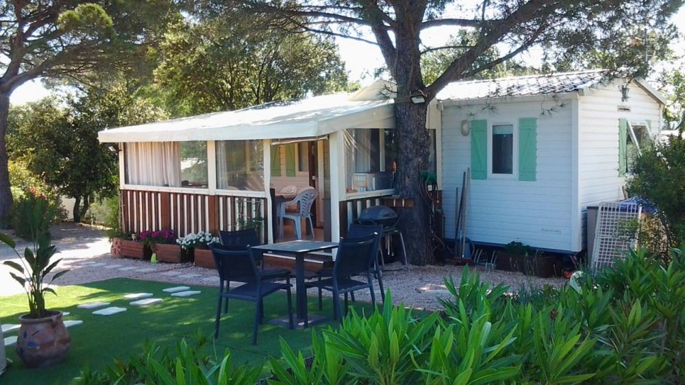 Location mobil home 3 Ch (6 places) dans camping avec grand espace aquatique