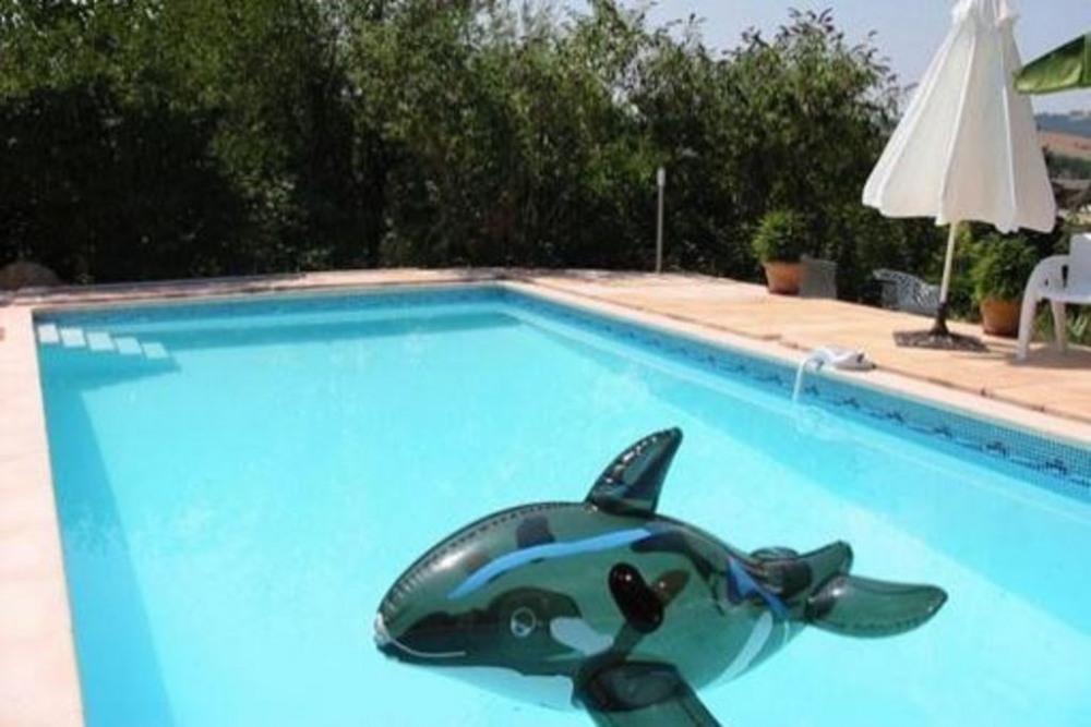 Limite Lot /Cantal dans parc boisé appartement de charme 4 personnes piscine.