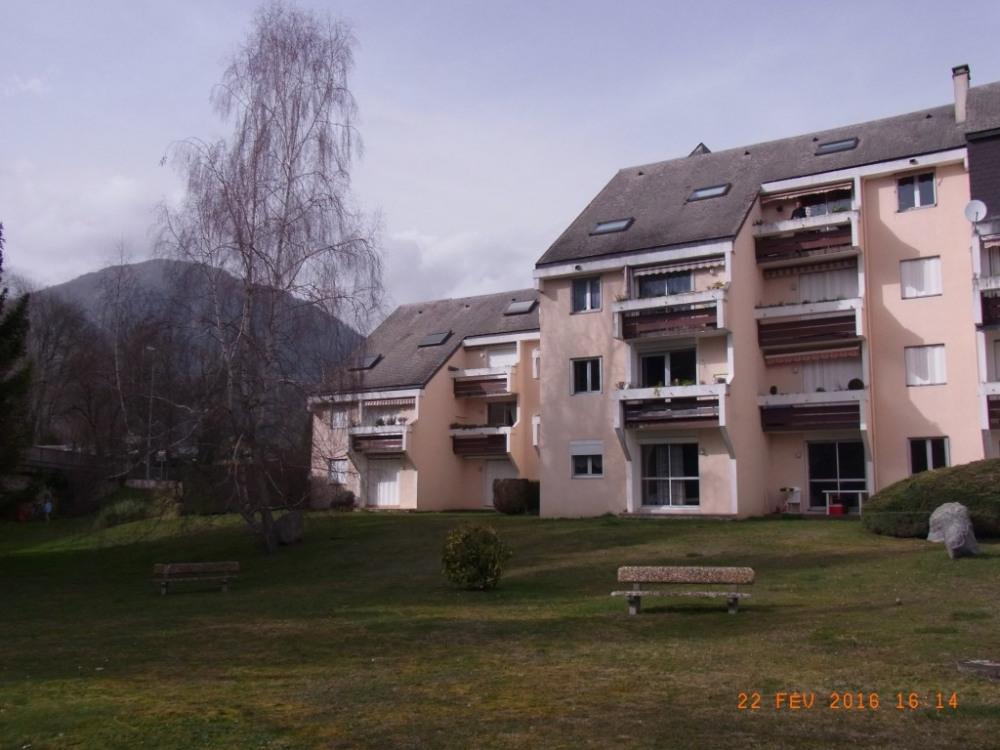Logement face au Gave d'Azun et montagne