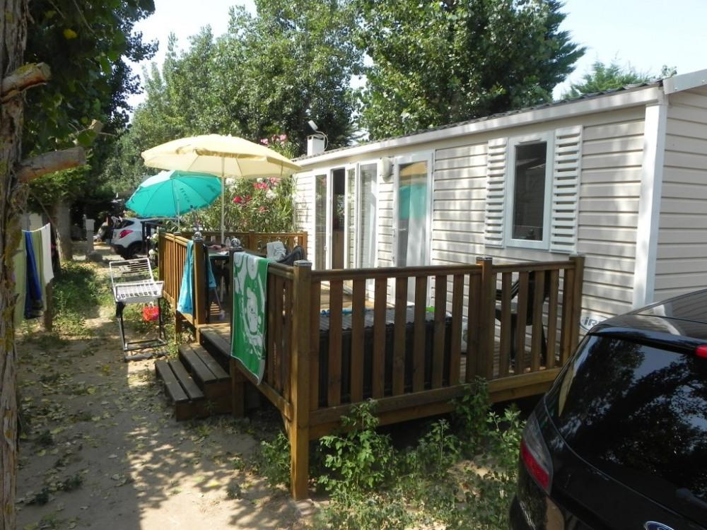 Loue Mobil home 4/6 place climatisé Serignan Plage