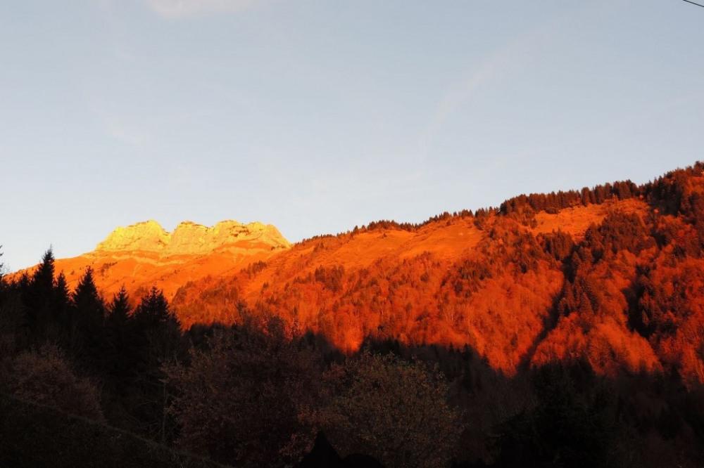 coucher de soleil depuis la terrasse 2