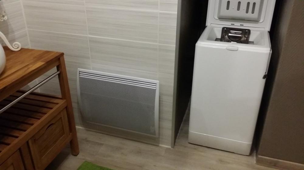 Salle de bain - Lave lige / sèche linge intégré