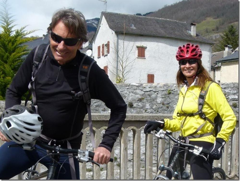 Christine et Jean au vélo