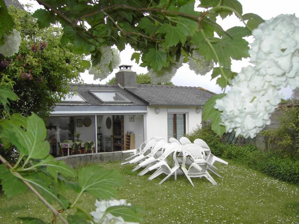 le jardin et la véranda