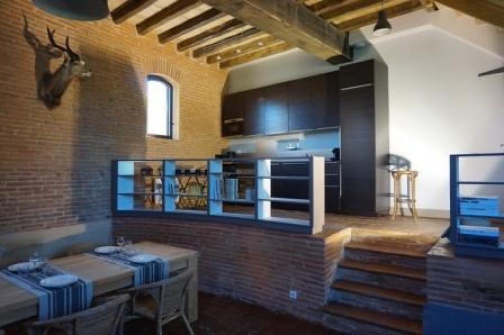Le Pressoir - rez-de-jardin : séjour de 50 m2