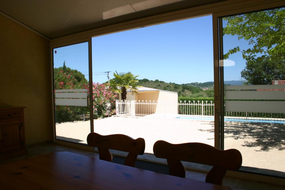 Véranda avec vue sur l'Ardèche