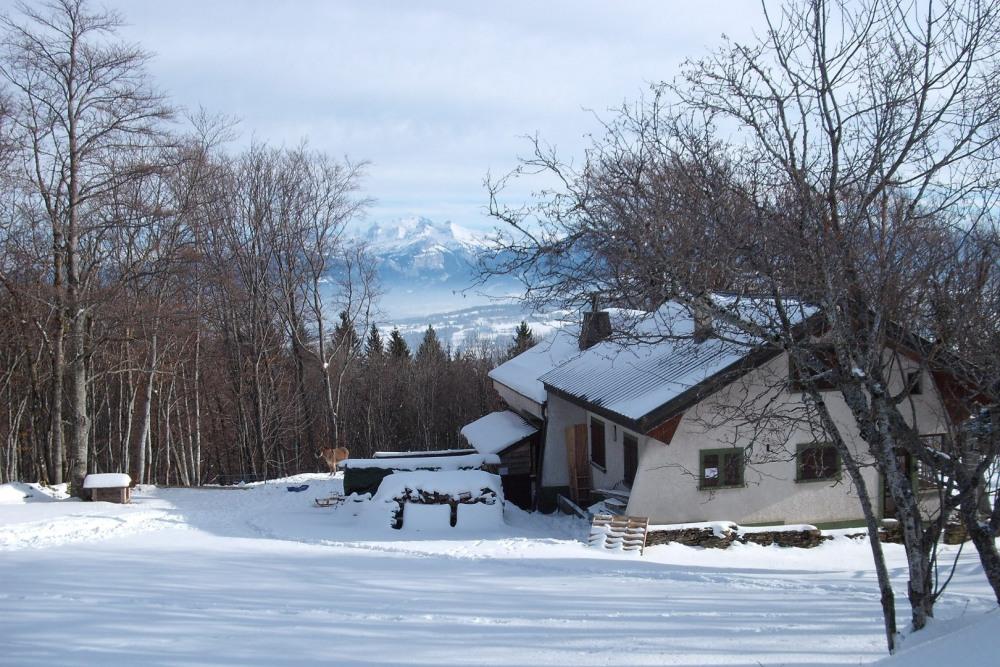 Paysage hivernal au Salève