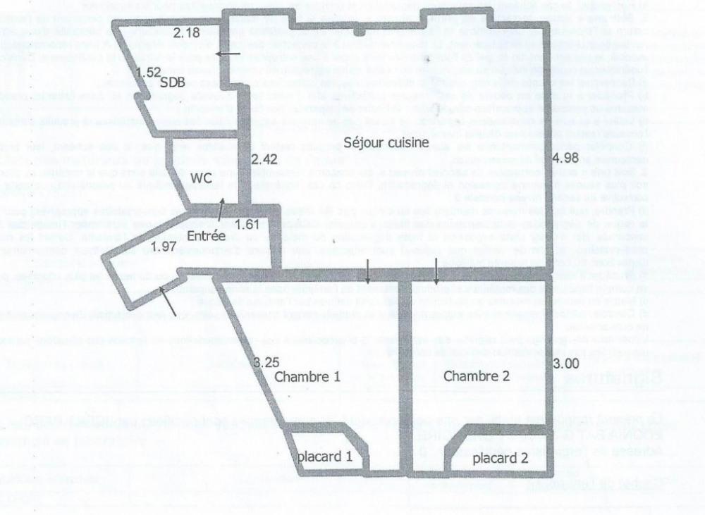 Plan de l'appartement (T3)