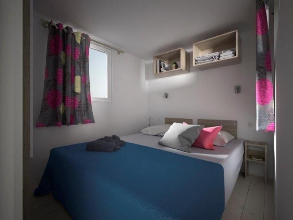 Mobil Home le Côté Plage*** - Mobil Home 6 personnes 3 ch avec terrasse intégrée