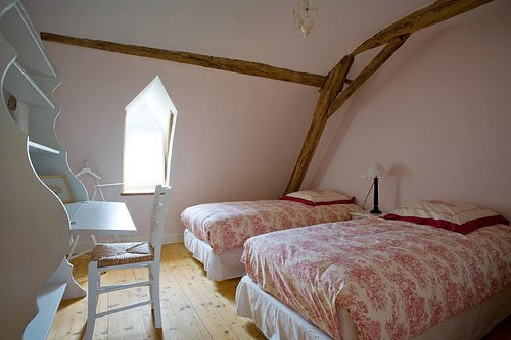 chambre à l'étage de 2 lits