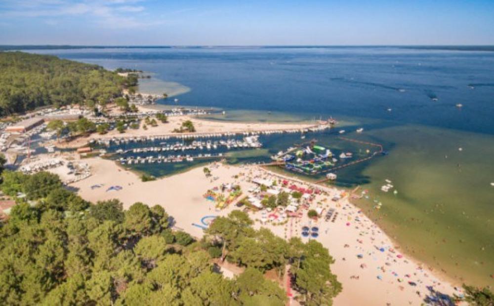 Camping Slow Village Biscarosse Lac Sea Green  4* - Chalet 6 personnes - 2 chambres (entre 6 et 1...