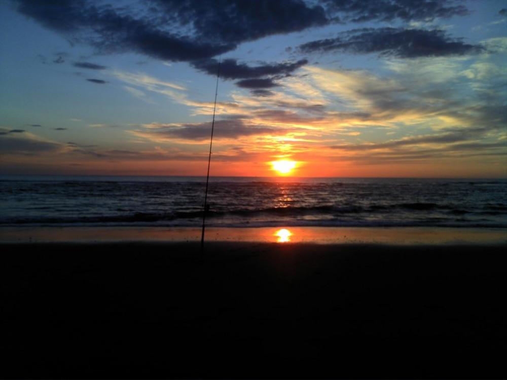 coucher de soleil plage du cap de l'hommy