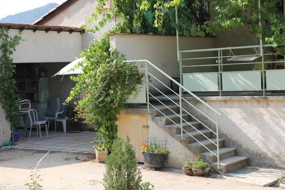 la terrasse couverte d'oasis