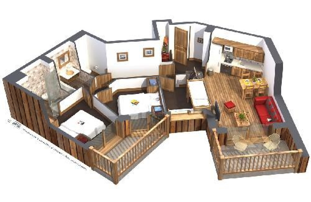 Résidence Koh-I-Nor - Appartement 3 pièces + cabine 6 personnes 60m²