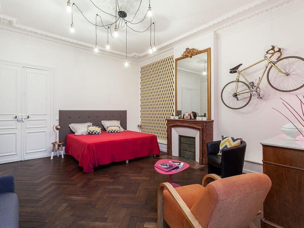 Grand espace à vivre salon + chambre