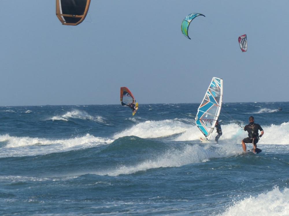 Kite surf sur la plage Nord de Saint Cyprien Plage