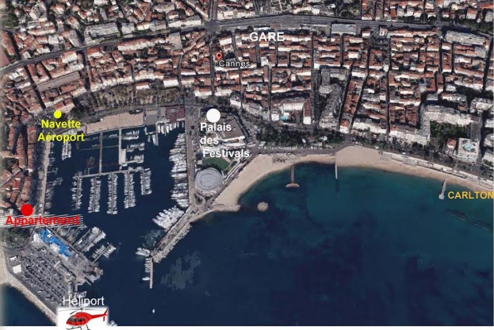 Plan situation Cannes