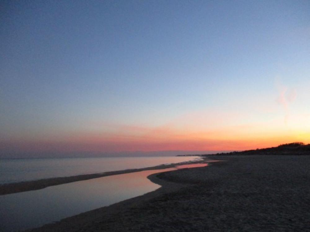 coucher de soleil sur la plage de Marseillan