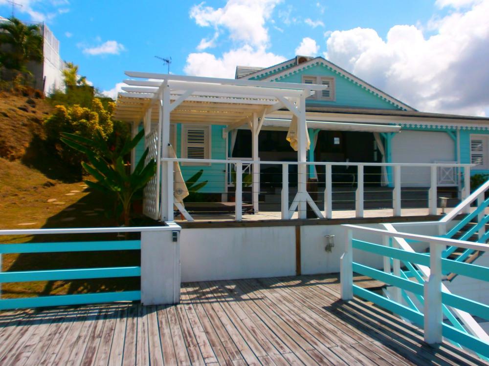 vue villa à partir du deck