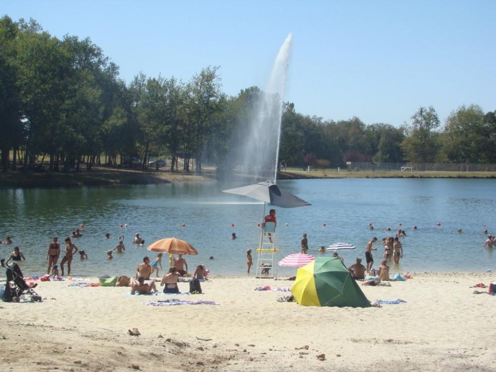 le lac de guson à 2 mn à pied