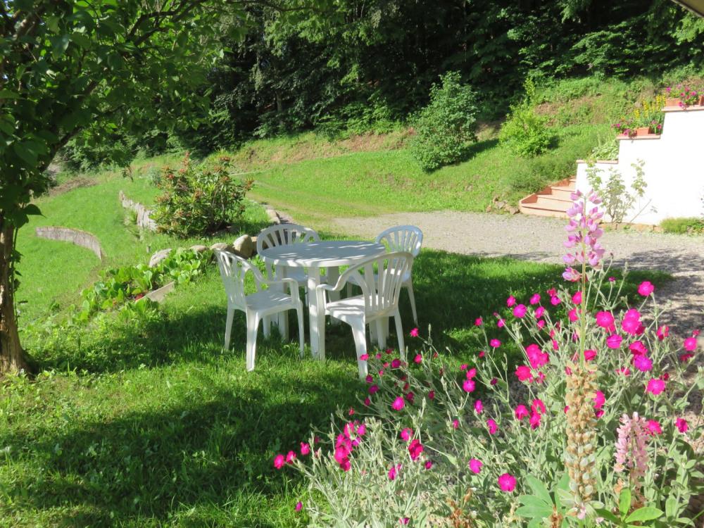 Salon de jardin de plain peid avec la location