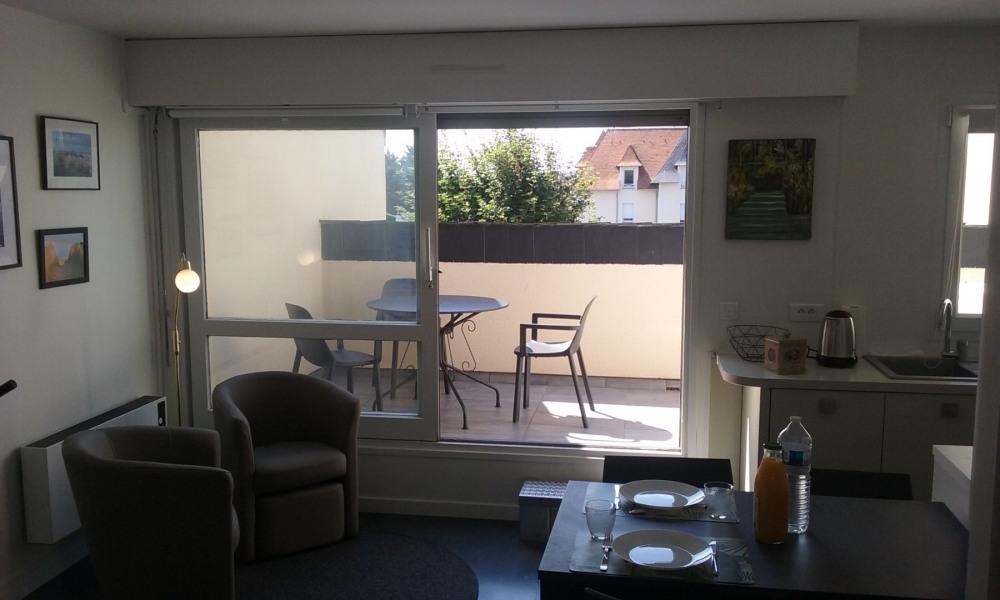 Appt F2 avec terrasse et balcon, 300 mètres de la plage, Classé 3 étoiles