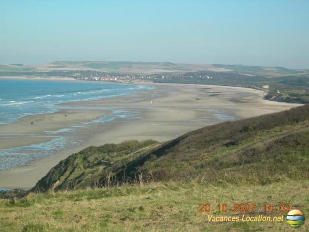 vue sur plage et cap blanc nez
