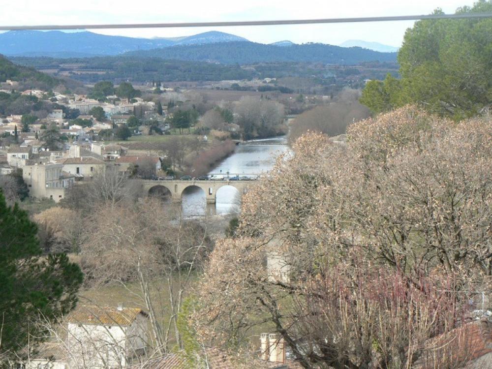 vue sur le pont romain de Sommières