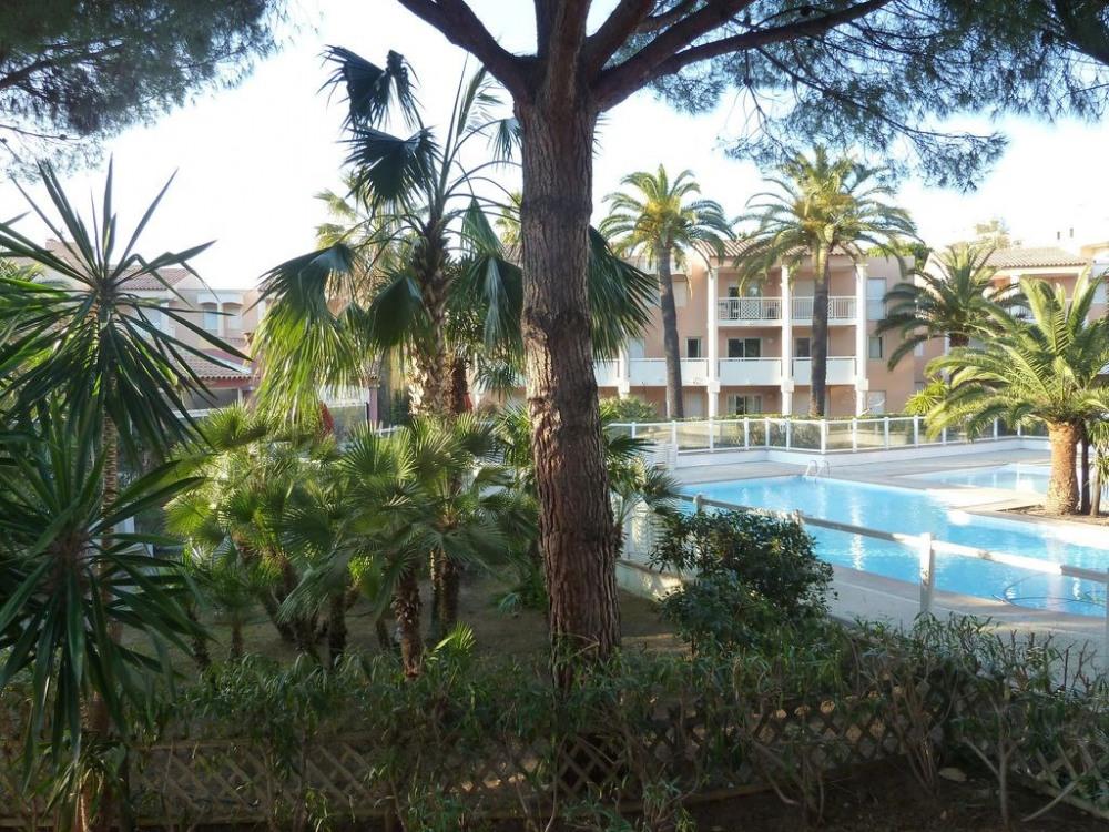 le parc avec aperçu piscine