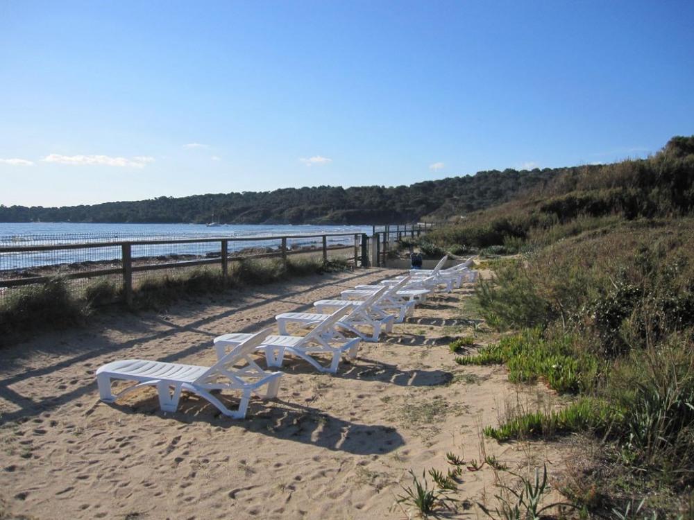 Solarium privatif en bord de plage