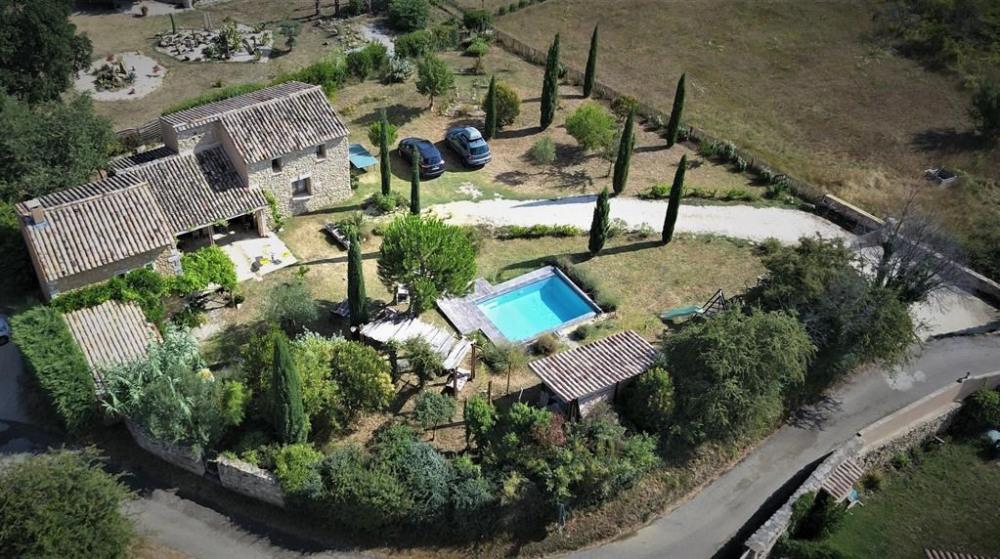 pour 8 pers. avec piscine privée, Saint-Christol-de-Rodières