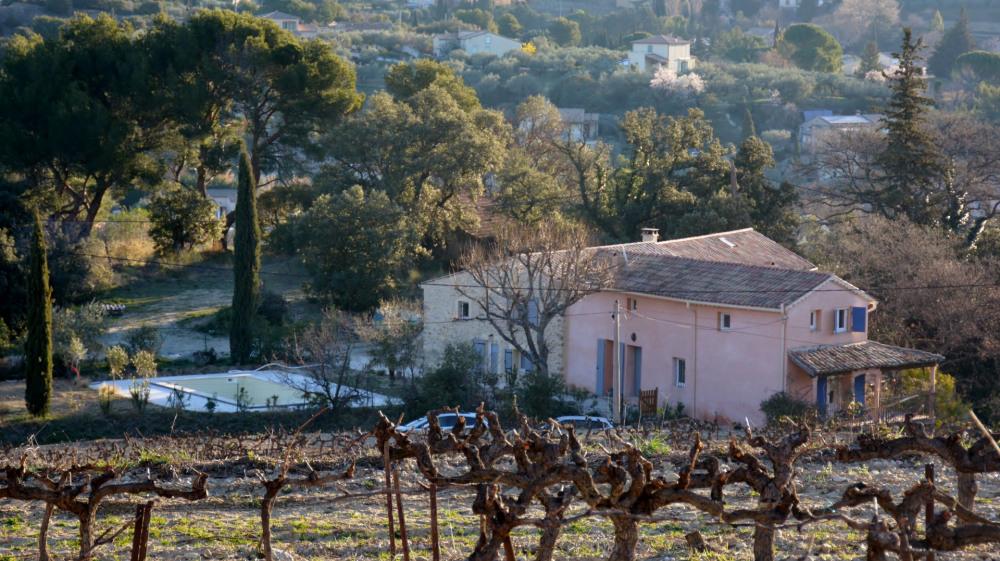 La maison vue des vignes