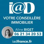 logo Iad france / aline biget