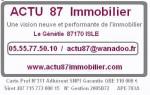 logo ACTU 87 IMMOBILIER