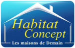 logo Habitat concept poulainville