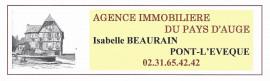 Agencia inmobiliaria AGENCE IMMOBILIERE DU PAYS D'AUGE Mme Isabelle BEAURAIN en Pont-l'Évêque