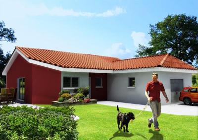 """Modèle de maison  """"Maison 75 m² à peronnas"""" à partir de 5 pièces Ain par ETUDES CONCEPTS REALISATIONS"""