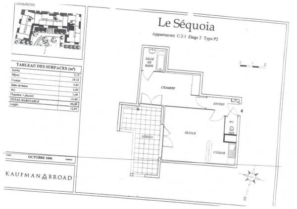 T2 de 44.30m² - Montpellier (34070)-6
