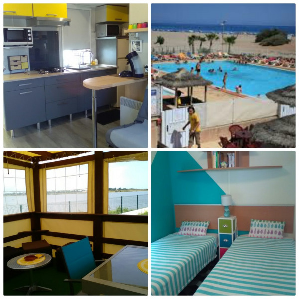 mobil Home dans camping 4 étoiles avec piscine bord de plage